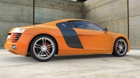 Orange supercar Royaltyfria Bilder