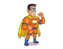 Orange Superhero Logo Royalty Free Stock Photography