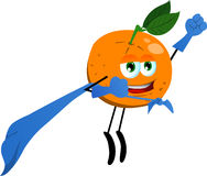 Orange superhero Stock Photos