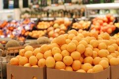 Orange in supermarket stock photography