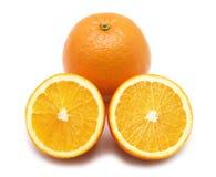 Orange sur le blanc Image stock