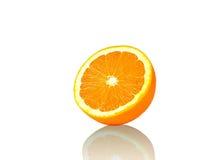Orange sur le fond blanc Photos libres de droits