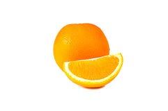 Orange sur le fond blanc Photographie stock