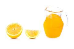 Orange sur un fond blanc Photo libre de droits