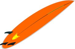 Orange surf board Stock Photography