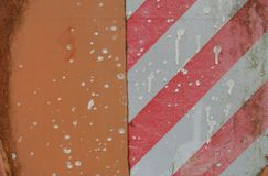 Orange surface with caution stripes Royalty Free Stock Photography