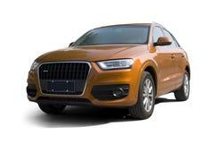 The orange SUV Royalty Free Stock Photo