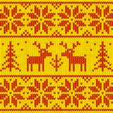 Orange sweater with deer vector ornament Stock Images