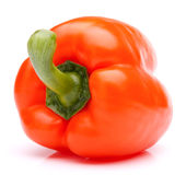 Orange sweet bell pepper isolated on white background cutout Royalty Free Stock Photos
