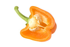 Orange sweet pepper. Royalty Free Stock Images