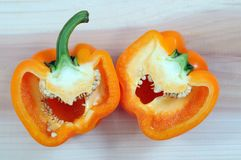 Orange sweet pepper Stock Photos