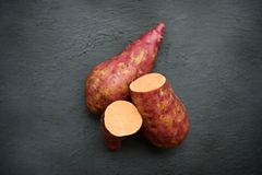 Orange sweet potato stock photos