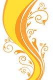 orange swirl för bakgrund Arkivfoto