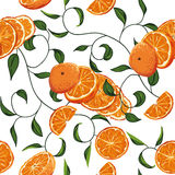 Orange swirling seamless vector background Stock Image