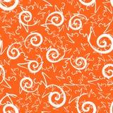 Orange Swirls Print Royalty Free Stock Images