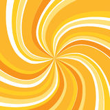 Orange swirly sunburst Royalty Free Stock Photography