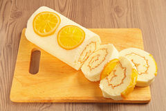Orange swiss roll Royalty Free Stock Photo