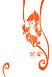 Orange symbol of 2016 year. Vector template. Orange symbol of 2016 year vector illustration