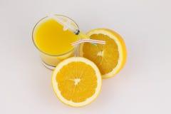 Orange with syringe Stock Images