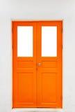 Orange Tür stockfotografie