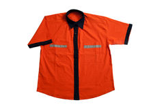Orange t shirt Stock Photo