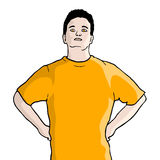Orange t-shirt Stock Photos