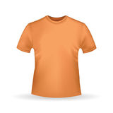 Orange T-shirt template  in realistic style on white background Stock Photography