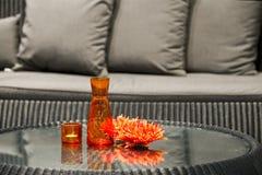 Orange table decorations Stock Photo