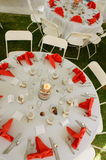 Orange table setting Royalty Free Stock Photos