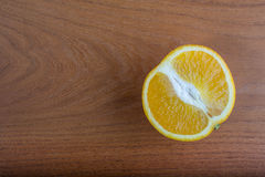 Orange on a table. Sliced Orange on a table Stock Images