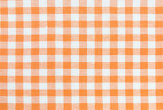 Orange tablecloth pattern. Orange and white gingham tablecloth pattern Royalty Free Stock Photography