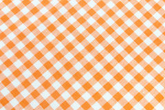 Orange tablecloth pattern. Orange and white gingham tablecloth pattern Stock Photo