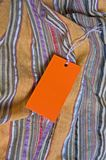 Orange tag with empty space for your writing Royalty Free Stock Photos