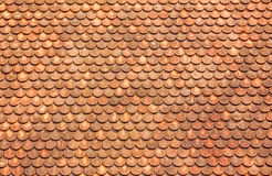 orange taktegelplattor Arkivbilder