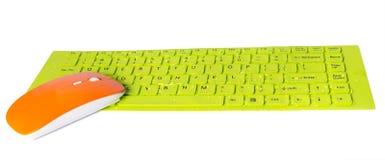 Orange tangent för knapp för datormusgräsplan Royaltyfri Fotografi