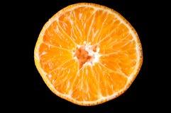 Orange tangerine fruit half slice isolated on Stock Photo