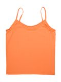 A orange tank top. Is on white background Stock Images
