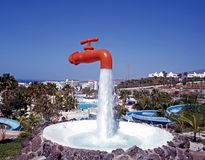 Orange tap, Tenerife. Royalty Free Stock Image
