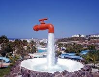 Orange tap, Tenerife. Royalty Free Stock Image