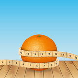 Orange and tape measure Stock Photo