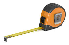Orange tape measure. Isolated on white background Stock Photography