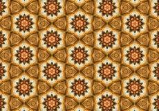 Orange tapet för blommamodell Arkivfoto