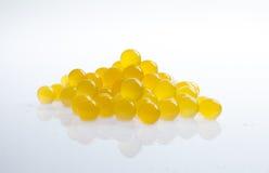 Orange tapioca pearls Stock Image