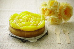 Orange tart. Such a delicious orange tart royalty free stock images