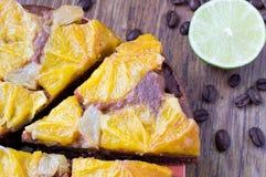 Orange tart, cake, dessert Royalty Free Stock Photos