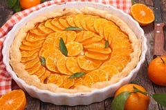 Orange tart Stock Image