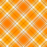 Orange Tartan Plaid Fabric Royalty Free Stock Photography