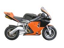 Orange Taschen-Fahrrad Lizenzfreies Stockbild