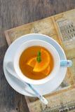 orange tea Royaltyfri Foto