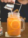 orange tea Royaltyfri Fotografi